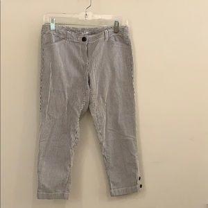 Seersucker crop pants